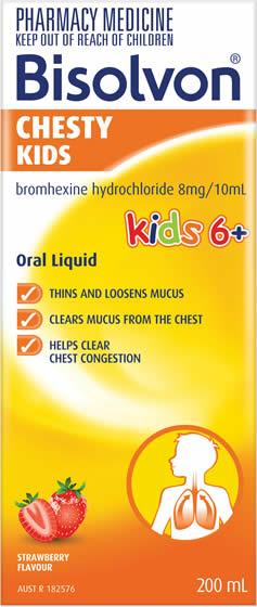 Bisolvon<sup>®</sup> Chesty Kids Liquid Strawberry