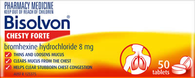 Bisolvon<sup>®</sup> Chesty Forte Tablets
