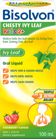 Bisolvon<sup>®</sup> Chesty Ivy Leaf Kids 2+ Liquid