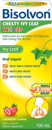 Bisolvon<sup>®</sup> Chesty Ivy Leaf Kids 2+ Liquid