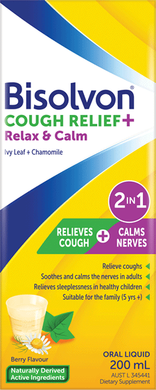 Bisolvon<sup>®</sup> Cough Relief + Relax & Calm